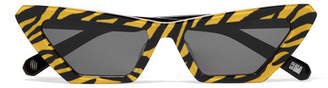 Cat Eye CHIMI - Tiger Printed Cat-eye Acetate Sunglasses - Yellow