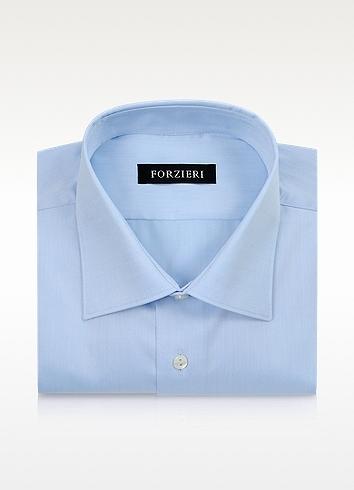 Forzieri Light Blue Non-Iron Cotton Dress Shirt