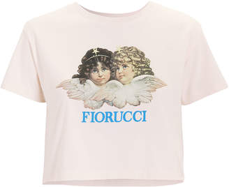 Fiorucci Vintage Angels Cropped Pink T-Shirt