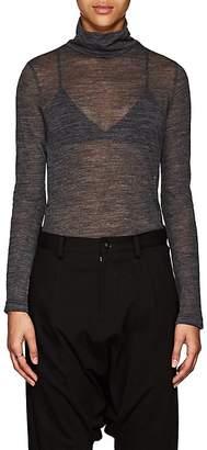 Yohji Yamamoto Regulation Women's Ruched-Side Wool Turtleneck Sweater