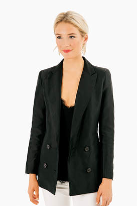 Blaque Label Black Tuxedo Satin Blazer