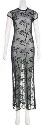 Casadei Embroidered Maxi Dress