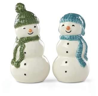 Lenox Balsam Lane Snowman Salt and Pepper Shaker Set