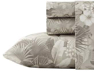 Tommy Bahama Home Hibiscus Haven 4 Piece 200 Thread Count 100% Cotton Percale Sheet Set