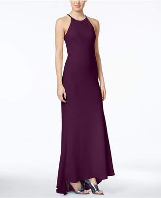 Calvin Klein Crepe Halter Gown