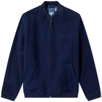 Blue Blue Japan Sashiko MA-1 Bomber Jacket