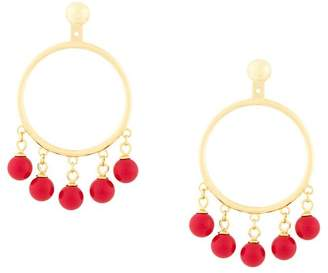 Eshvi fang pearl charm earrings