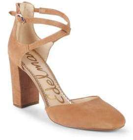 Sam Edelman Simmons Suede Ankle-Strap Sandals