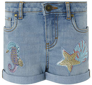Monsoon Seahorse Denim Shorts