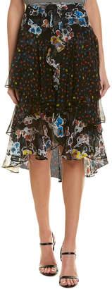 Jason Wu Tiered Chiffon Silk Skirt