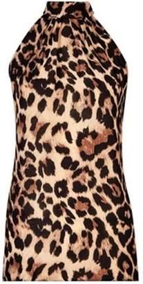 Dorothy Perkins Womens Multi Colour Animal Print Tie Back Sleeveless Top