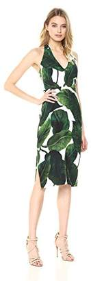 Milly Women's Large Banana Leaf Print on Cady Vanessa Dress