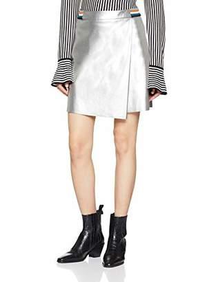 BOSS Casual Women's Bametty Skirt (Silver 040), (Manufacturer Size: 40)