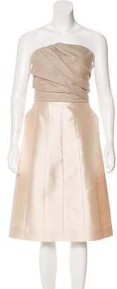 Louis Vuitton Strapless Mini Dress