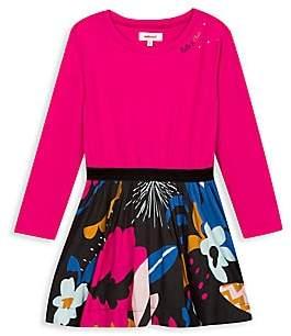 Catimini Little Girl's & Girl's Mixed Media Dress
