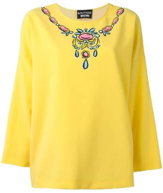 Moschino necklace print blouse