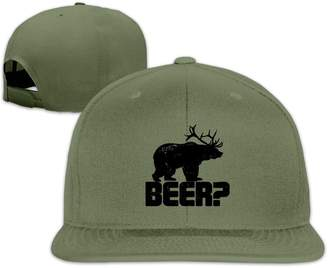 Neutral-CAP Adult Contrast Color Hip Hop Baseball Cap Retro Deer Beer Bear Funny Vintage