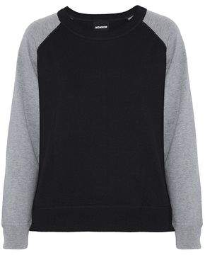 Monrow Two-Tone Wool And Cotton-Blend Sweatshirt