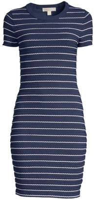 MICHAEL Michael Kors Tipped Scallop Dress
