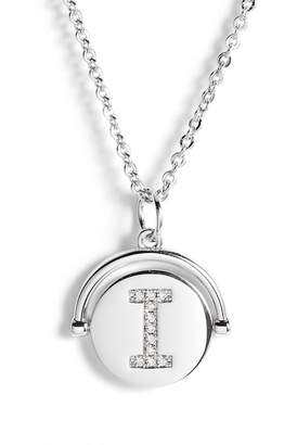 Lulu DK Love Letters CZ Initial Spinning Pendant Necklace