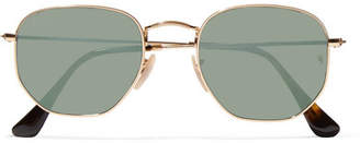Ray-Ban Square-frame Gold-tone Mirrored Sunglasses - one size