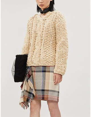 Acne Studios Kadhia cable-knit cotton and wool-blend jumper