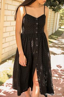 Urban Outfitters Abbie Eyelet Button-Down Dress
