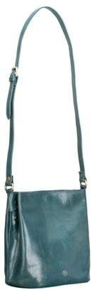 Maxwell Scott Bags Luxury Petrol Leather Bucket Bag Handbag For Women