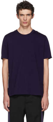Jil Sander Purple Cotton T-Shirt