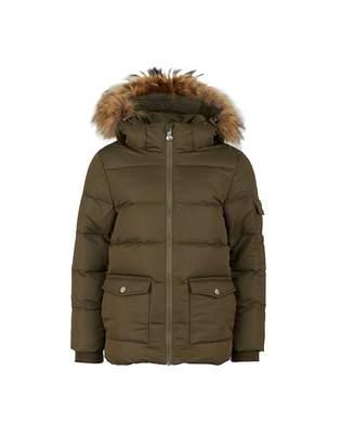 Pyrenex Authentic Gaberdine Fur Trim Down Coat