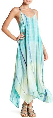 Love Stitch Tie-Dye Handkerchief Maxi Dress