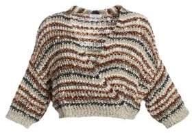 Brunello Cucinelli Cropped Paillette Knit Cardigan