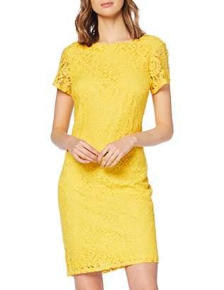 Dorothy Perkins Women's Yellow Boat Neck LACE Shift Dress, (Ochre 430), (Size:)