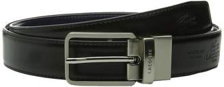 Lacoste Premium Reversible Leather Nickel Embossed Croc Belt Men's Belts
