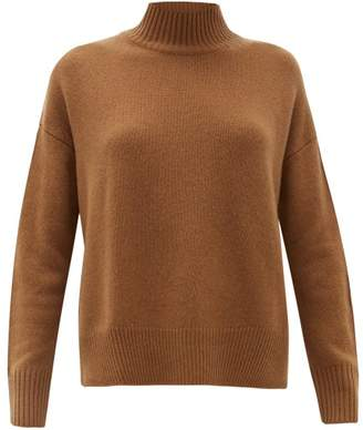 Allude High Neck Cashmere Sweater - Womens - Camel