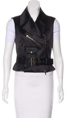 Celine Silk-Blend Belted Vest