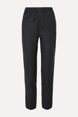Atlantique Ascoli Wool Tapered Pants - Gray