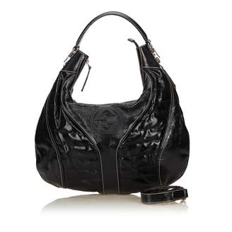 9758862d2 Gucci Hobo Black Patent leather Handbag
