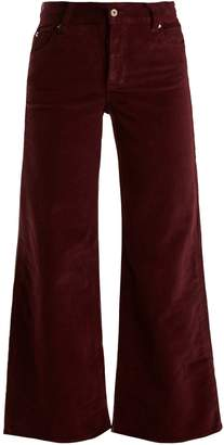 EVE DENIM Charlotte high-rise wide-leg corduroy trousers