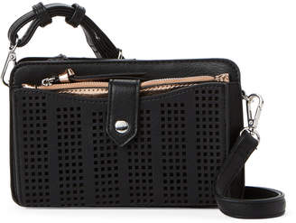 Violet Ray Black Perforated Crossbody