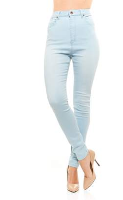 Red Jeans NYC Red Jeans Women's Lynn High Waist Skinny Soft Denim Jeans