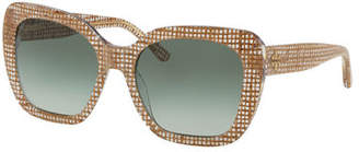 Tory Burch Square Gradient Acetate Sunglasses