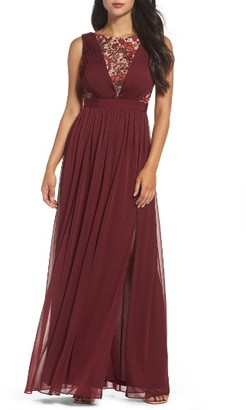 Women's Adrianna Papell Sequin Lace & Tulle Gown $199 thestylecure.com