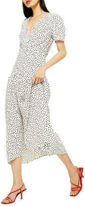 Topshop Starlight Smock Midi Dress