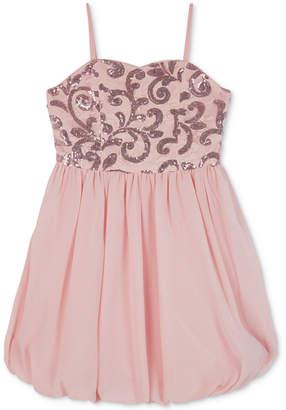 BCX Big Girls Sequin Lace Bubble Dress
