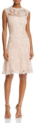 Tadashi Shoji Sheer Yoke Lace Dress $468 thestylecure.com