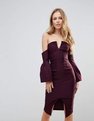 Bardot Vesper Bell Sleeve Pencil Dress