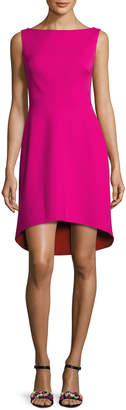 ph15 Sleeveless Colorblock Ponte Cocktail Dress, Fuchsia/Orange