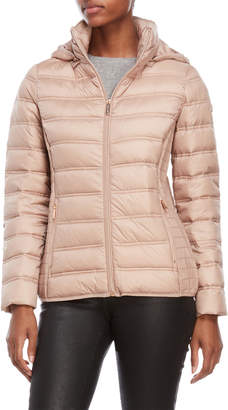 MICHAEL Michael Kors Cinched Side Packable Down Jacket