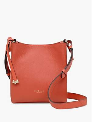 Radley Hope Street Leather Small Open Top Cross Body Bag, Flame